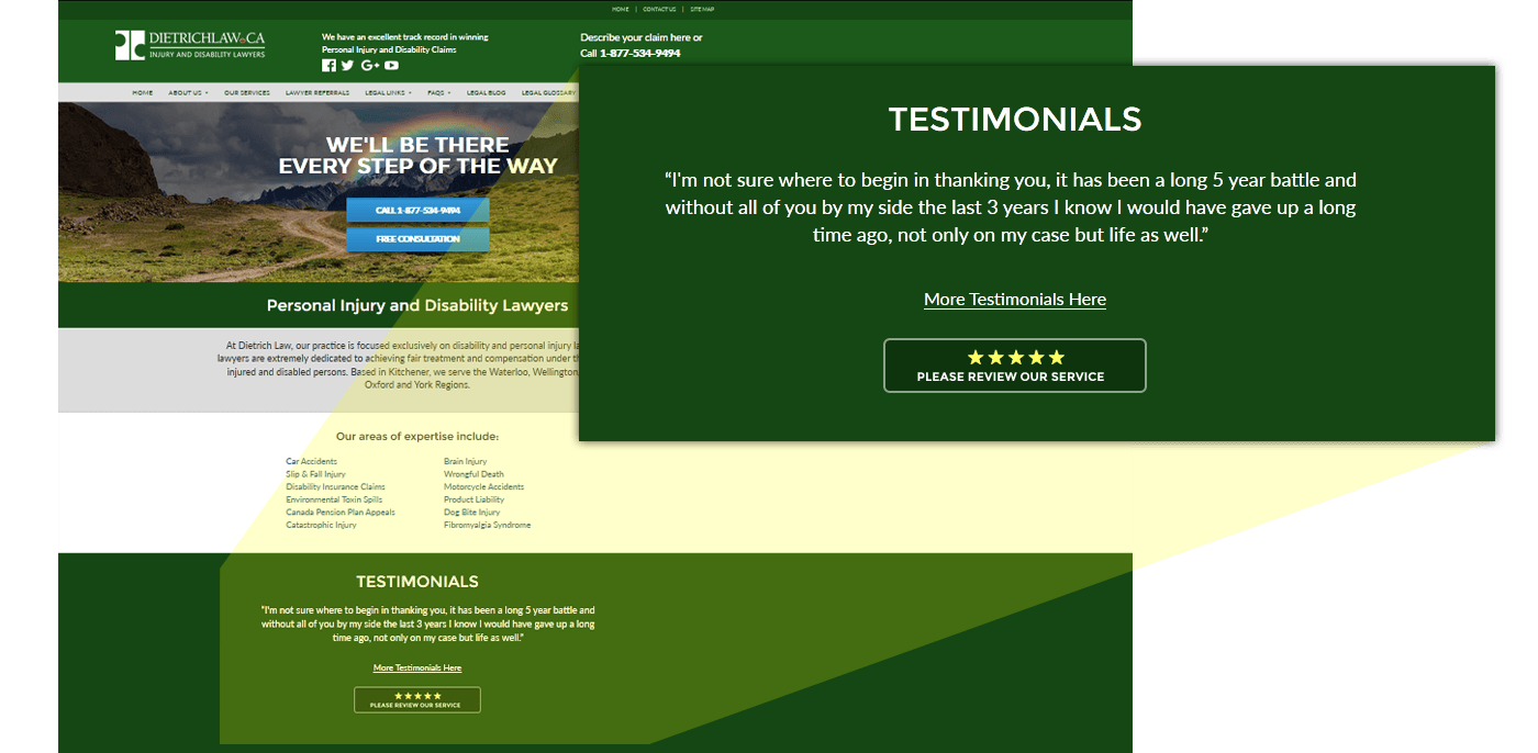 Show Your Google Reviews and Other Testimonials To Your Website Visitors